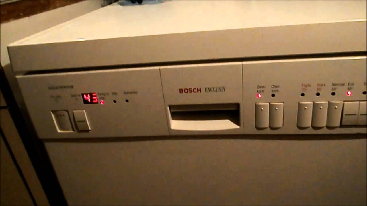 bosch exclusiv dishwasher eco 55c youtube. Black Bedroom Furniture Sets. Home Design Ideas