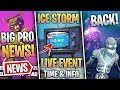 Fortnite News   Ice Storm Event DATE & Info, Ice Zombies Returning, Competitive News & More!