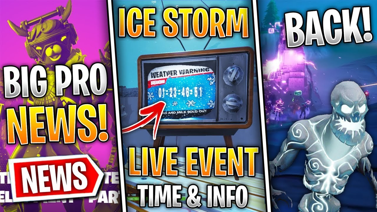 Fortnite News | Ice Storm Event DATE & Info, Ice Zombies ...