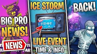 Fortnite News | Ice Storm Event DATE & Info, Ice Zombies Returning, Competitive News & More!
