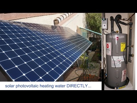 1.3kw Solar Panels PV to heat water directly, solar pv elect