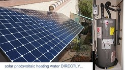 1.3kw Solar Panels PV to heat water directly, solar pv electric water heater