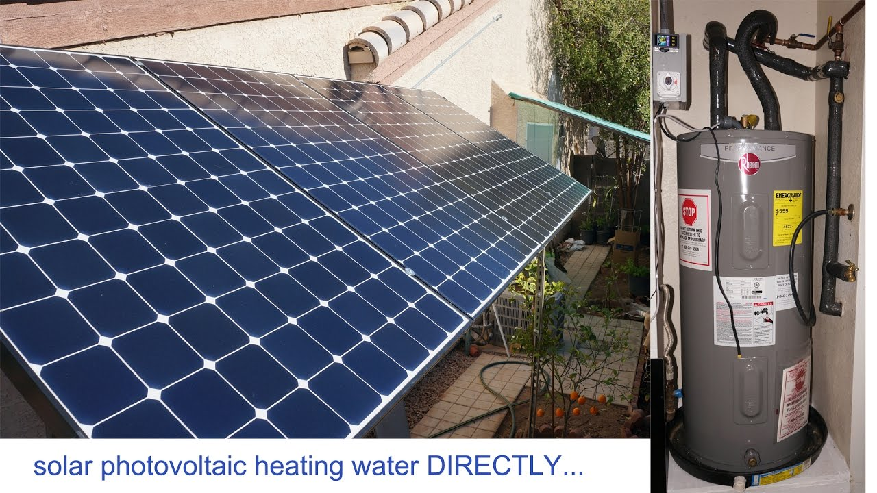 1 3kw Solar Panels PV to heat water directly  solar pv electric     1 3kw Solar Panels PV to heat water directly  solar pv electric water heater