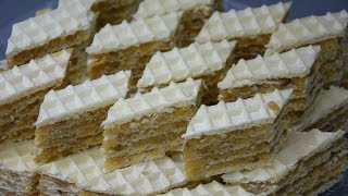The Best Milky Cream Wafer Bars (old fashioned recipe)