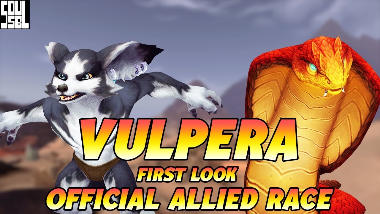 VULPERA ARE OFFICIAL! First Look At Visuals, Racials, Mount and Pet!