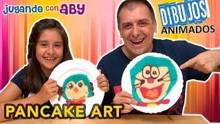 PANCAKE ART CHALLENGE de Dibujos Animados y Retamos a Abrelo Toys