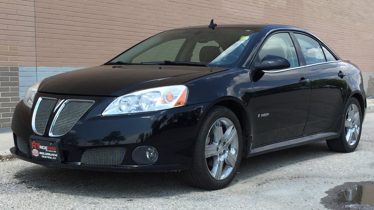 2008 Pontiac G6 Gxp Sedan Leather Heated Seats Sunroof