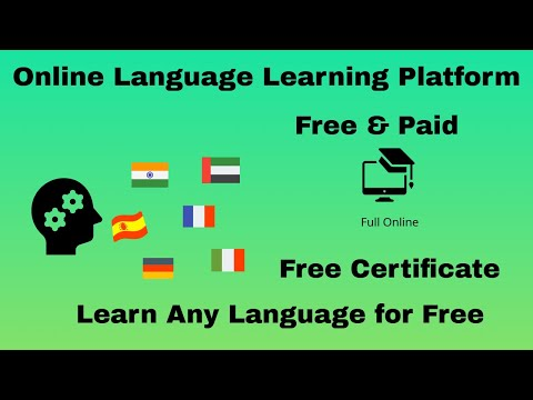 Online language Learning Platform Free |  Free &  Paid | Online Sprachlernplattform | Certificate