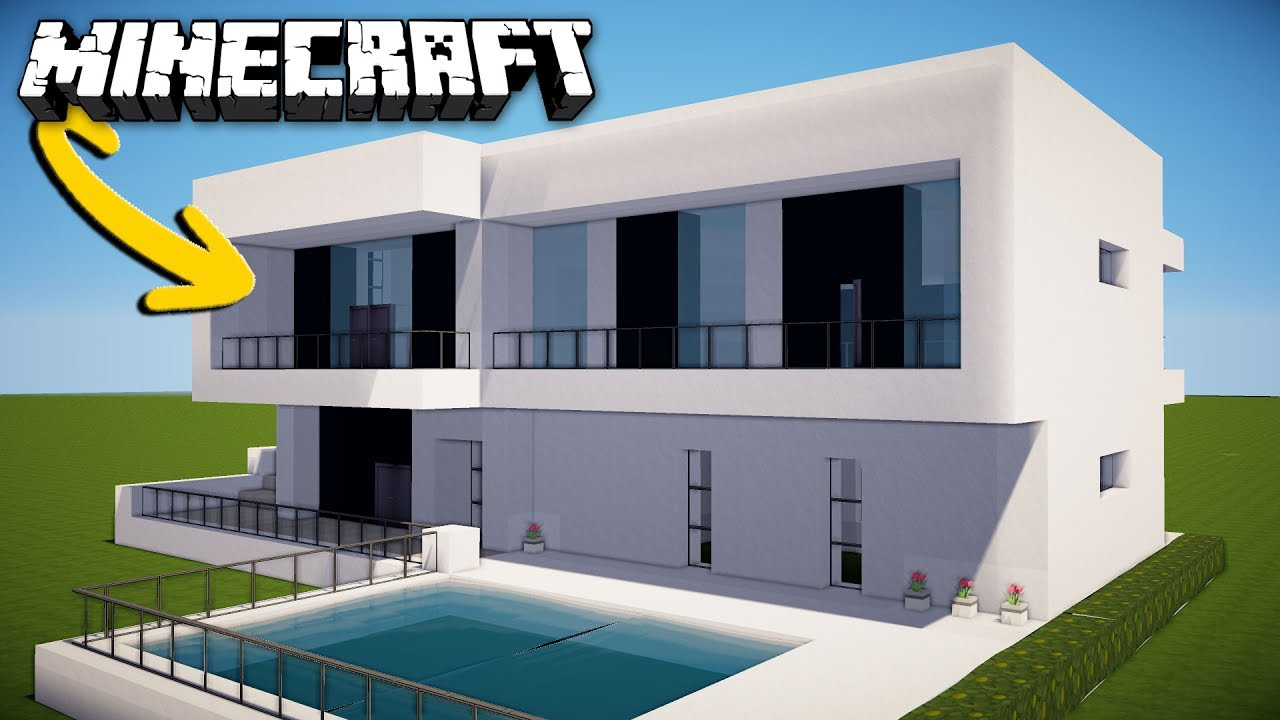 Minecraft How To Make A Modern House For Survival Home Tutorial
