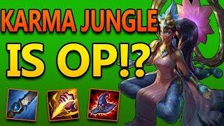 KARMA JUNGLE IS HIDDEN OP - League of Legends Commentary