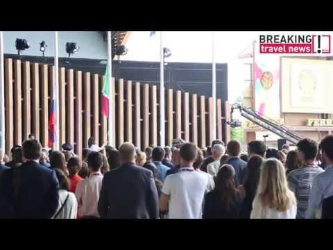Russian president Vladimir Putin visits Expo 2015 in Milan