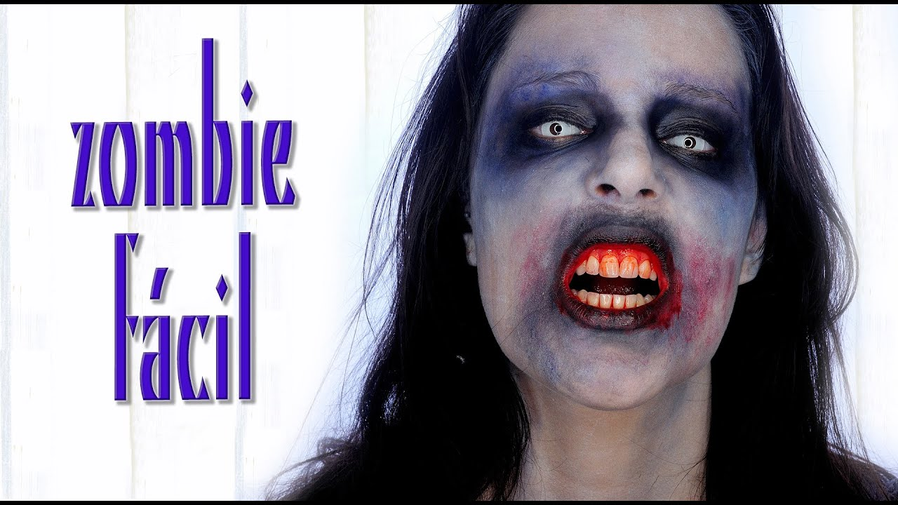como hacer maquillaje para zombie