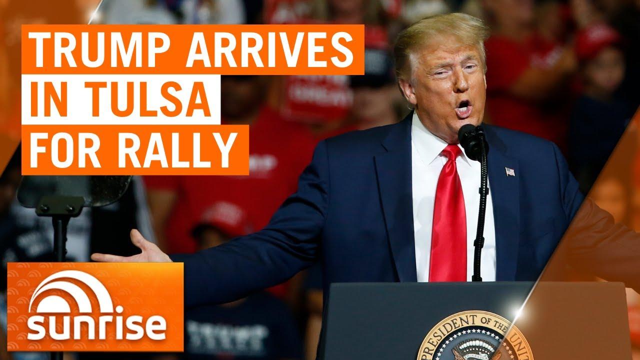 Coronavirus: Trump rally in Tulsa goes ahead despite staffers testing positive to COVID-19 | 7NEWS