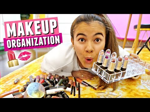 NEW MAKEUP ORGANIZATION!💄 How to store...