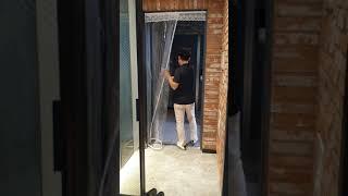 완전 좋아! 비오니 현관문 바람막이 커튼, 방풍비닐 현…