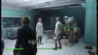 Fallout4で可愛いと評判のキュリーを探してVault81に向かった時の動画で...