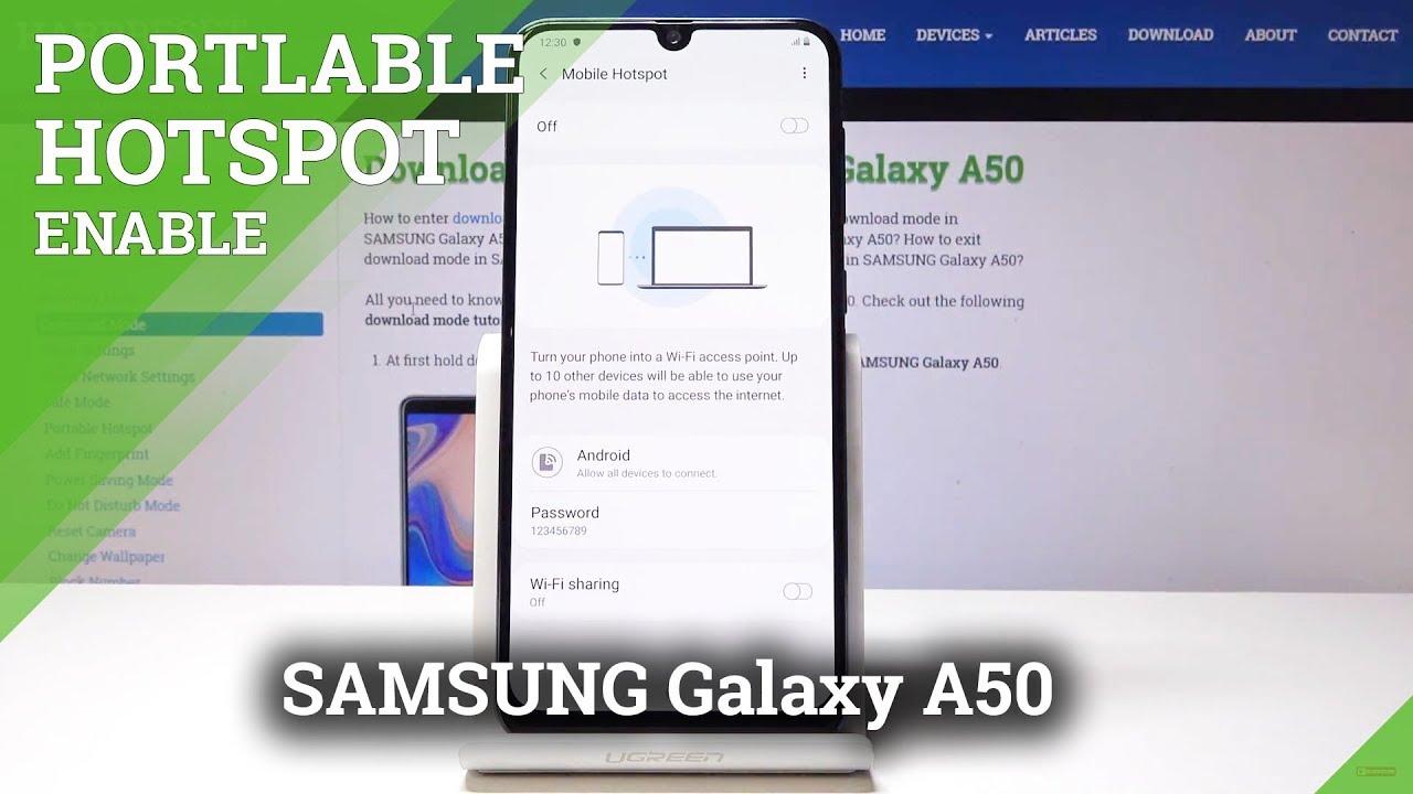 Portable Hotspot SAMSUNG Galaxy A50 - HardReset info