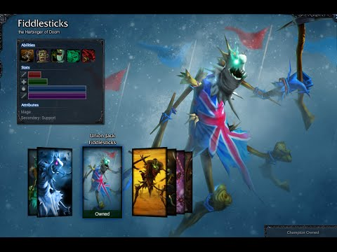 Union Jack Fiddlesticks Skin Spotlight Gameplay 1080p HD