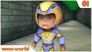 Super Labyrinth | Vir Den Roboter-Jungen, der in Englisch | Action-Cartoon für Kinder | Wow-Welt