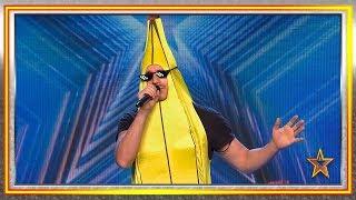 ¡Un PLÁTANO canta el primer REGGAETÓN con una letra SANA! | Audiciones 9 | Got Talent España 2019