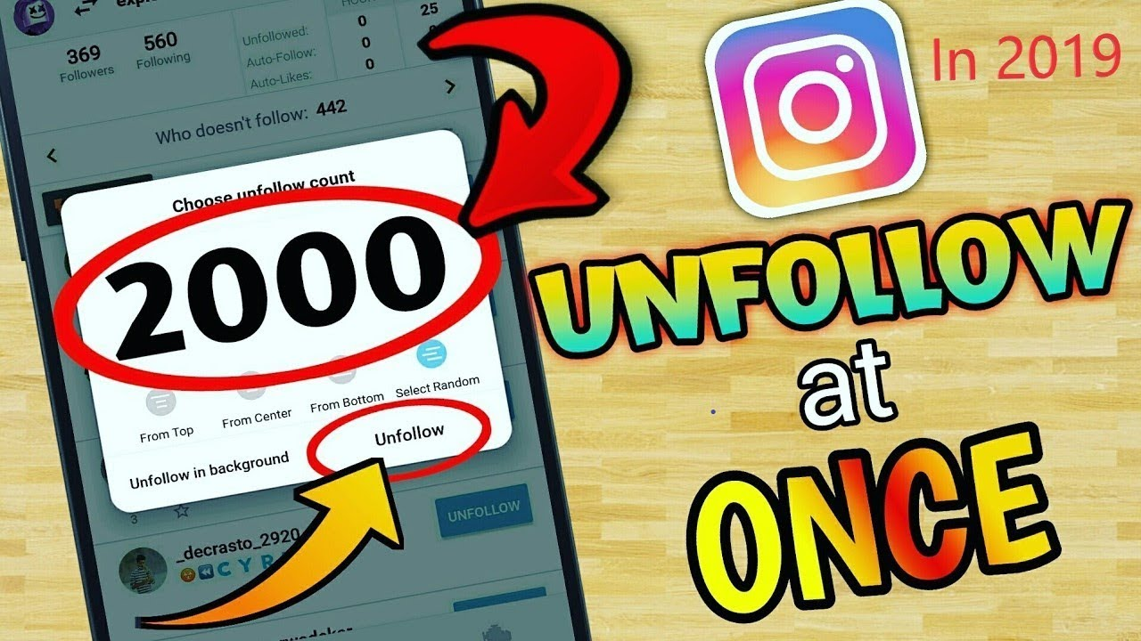 How To Unfollow Everyone On Instagram At Once in Hindi 2019 / Trusted  Unfollow App For Instagram