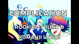 Durarara!! (デュラララ!!) Opening 2 full (Romaji / English Lyrics) - [Complication] by ROOKIEZ is PUNK'D