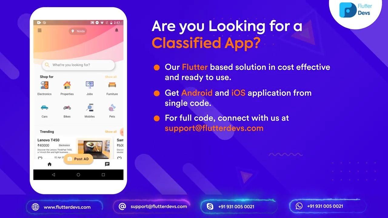Flutter Classified Application Demo