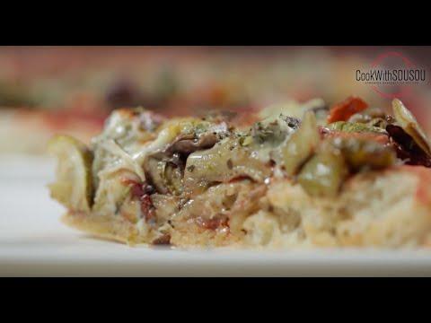صورة  طريقة عمل البيتزا طريقة عمل بيتزا نباتية سهلة وسريعة بالفيديو طريقة عمل البيتزا من يوتيوب