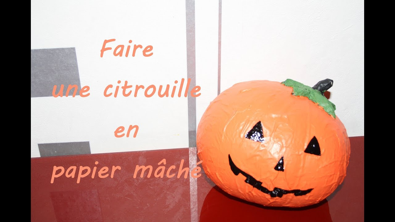 diy faire une citrouille d 39 halloween en papier m ch. Black Bedroom Furniture Sets. Home Design Ideas