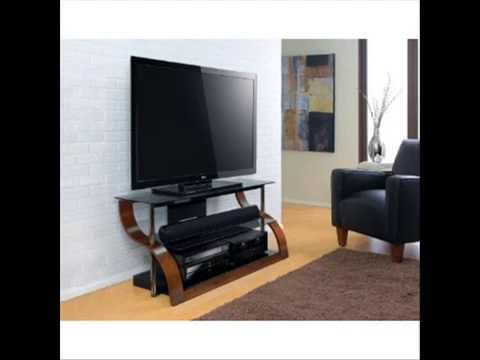 65 Inch 3 Shelf Curved Wood Flat Panel Stand Bello Tv Stands For