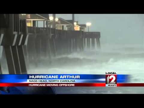 Hurricane Arthur reaches landfall