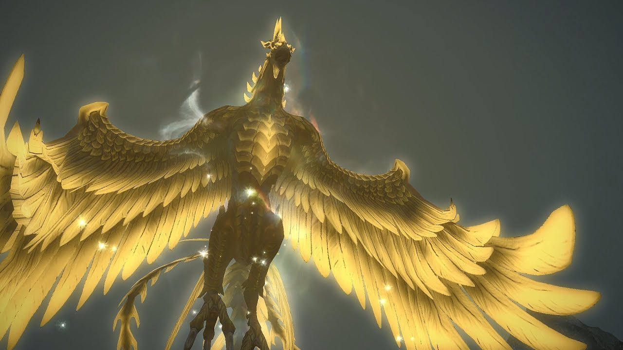 Final Fantasy XIV Heavensward FireBird is the Word All Bird Primal Mounts  by xXMasterJ360Xx