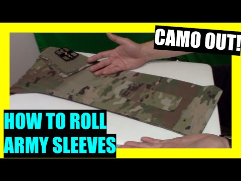 """HOW TO ROLL ARMY SLEEVES """"CAMO OUT"""""""