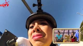 Miko Lan Trinh khoc thét vì trò chơi mạo hiểm đi trên không tại Nhật Bản!