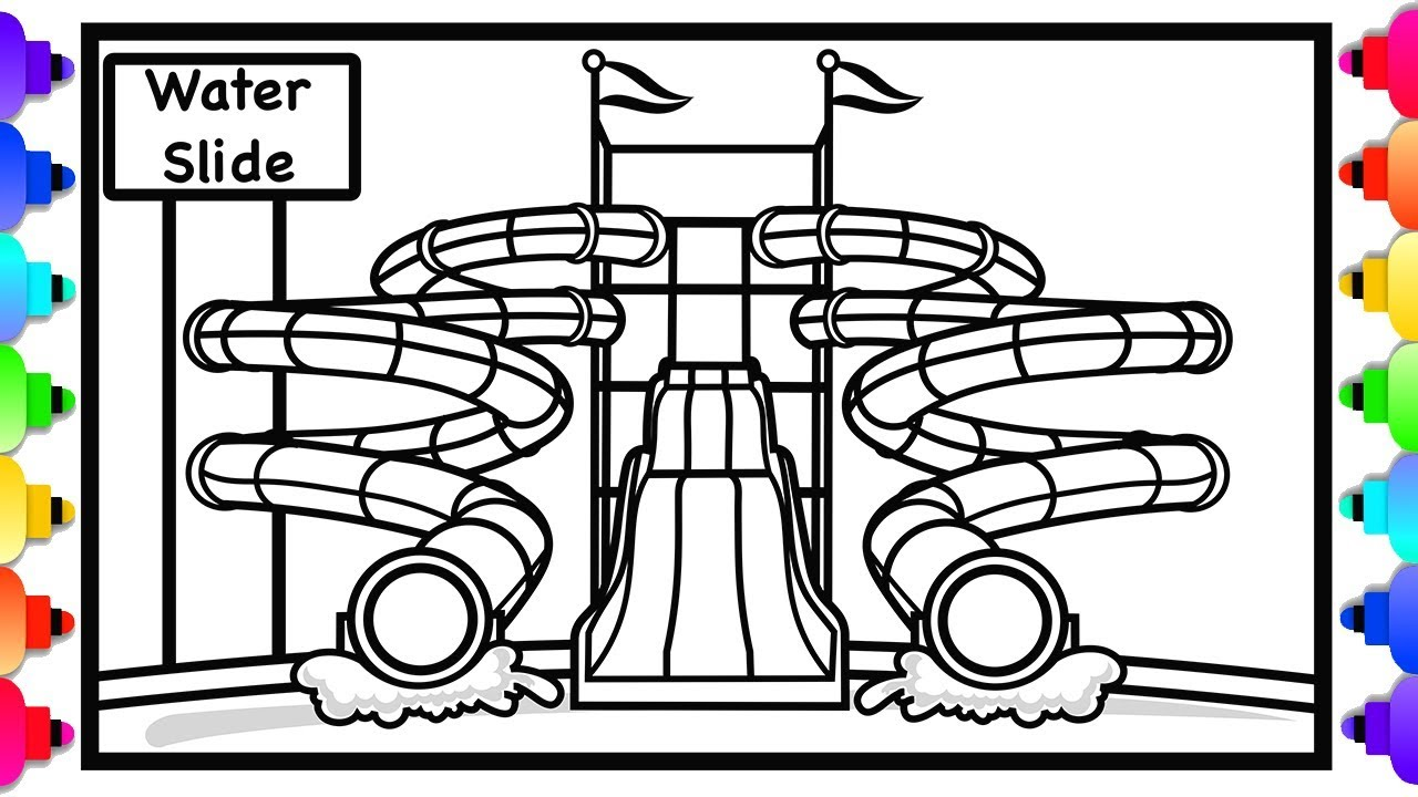 water slide coloring pages - photo#6
