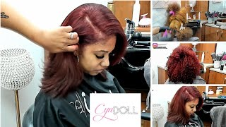 HOW TO DO A SILK PRESS ON LONG THICK HAIR!!! Color correction!