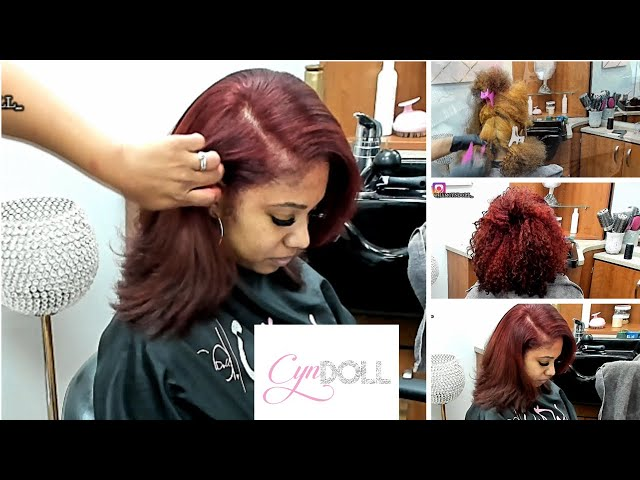 Silk Press & Color on Natural Hair