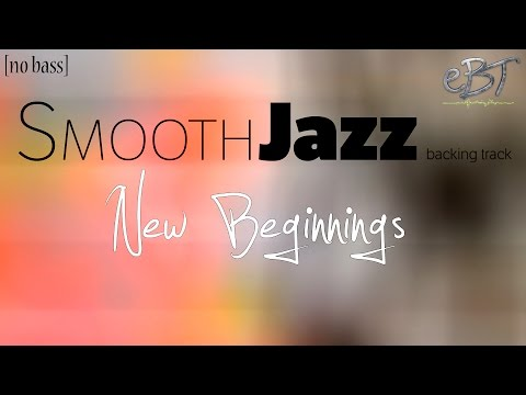 Smooth Jazz Backing Track in A Major | 60 bpm [NO BASS]