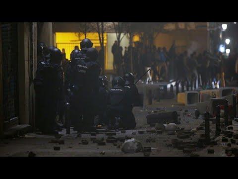 Disturbios en Madrid por el fallecimiento de inmigrante senegalés