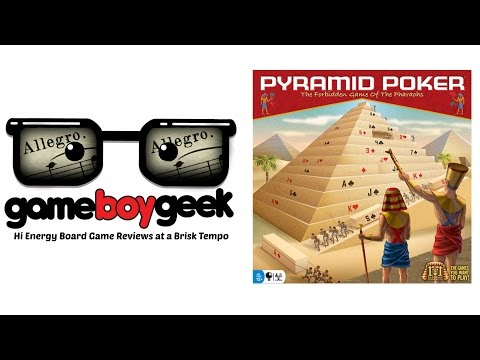 Pyramid Poker (Allegro 2-min) Review with the Game Boy Geek