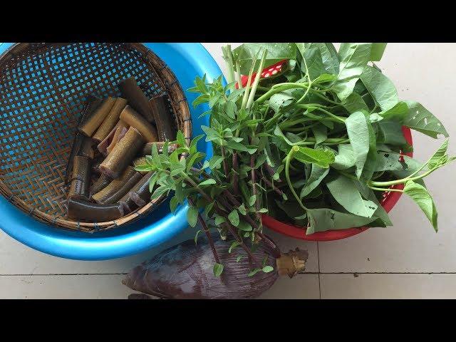 Lẩu lươn bắp chuối rau muống sau vườn, bữa cơm gia đình