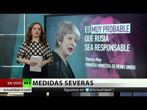 """May amenaza con """"medidas severas"""" contra Rusia"""