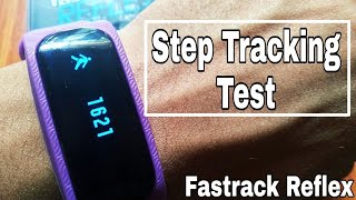 Fastrack Reflex Step Tracking Accuracy Test    Playstore App URL