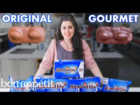 Pastry Chef Attempts to Make Gourmet Almond Joys | Gourmet Makes | Bon Apptit