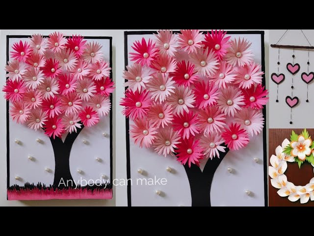 Easy Paper Tree Room Decor Diy Paper Wreath Paper Wall Hanging Best From Waste Youtube