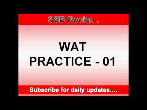 Word Association Test (WAT) Practice 1 #SSB