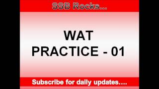 Word Association Test (WAT) Practice 1 #ssbrocks