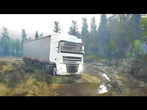 SPINTIRES  | DAF XF Caminos Extremos Con Un Camion | JMGamer