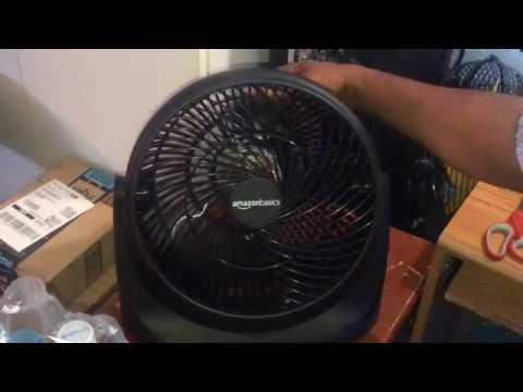 "Amazon Basics 14"" Air Circulator High Velocity Table Fan( My 650 Subscriber Special)"
