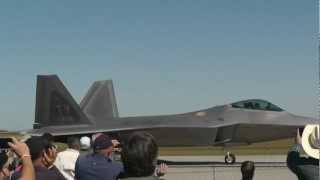 f22 raptor wings over houston airshow hd amazing take off